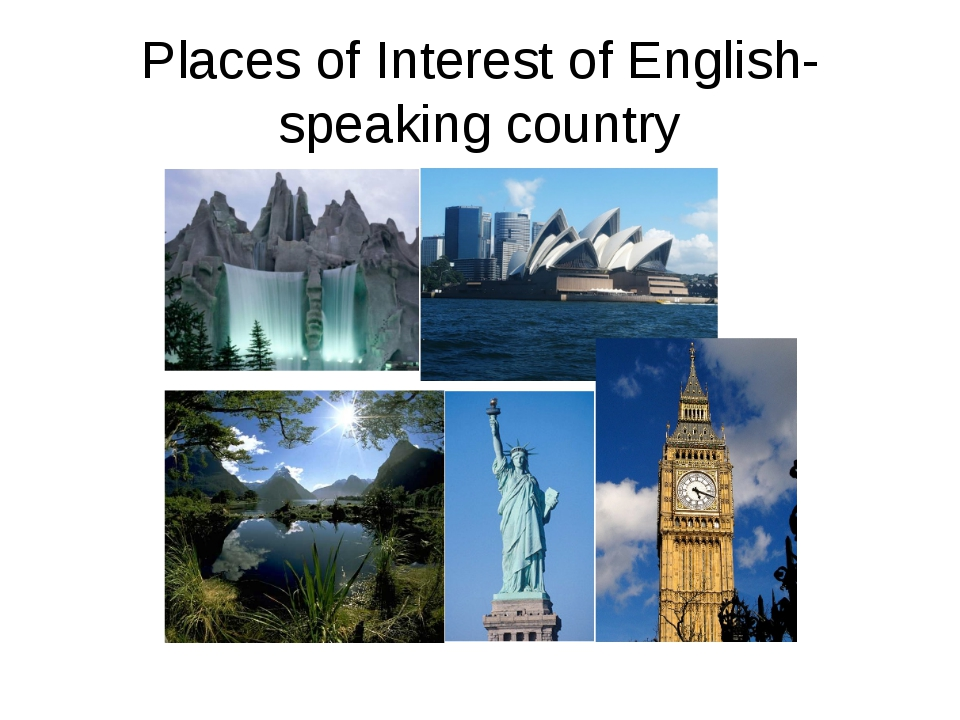Places of Interest of English-speaking country