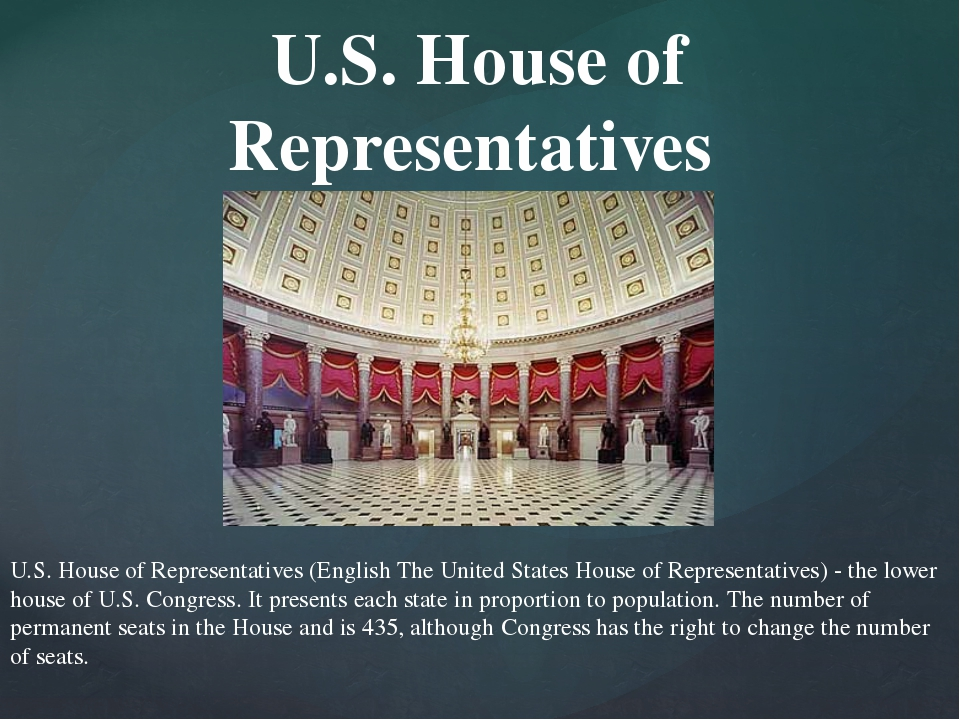 U.S. House of Representatives (English The United States House of Representat...