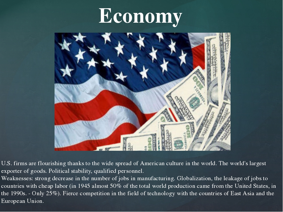 Economy U.S. firms are flourishing thanks to the wide spread of American cult...