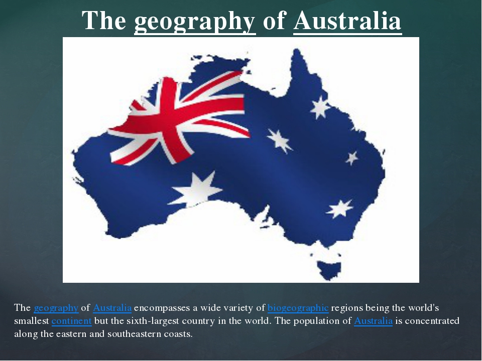 The geography of Australia encompasses a wide variety of biogeographic region...
