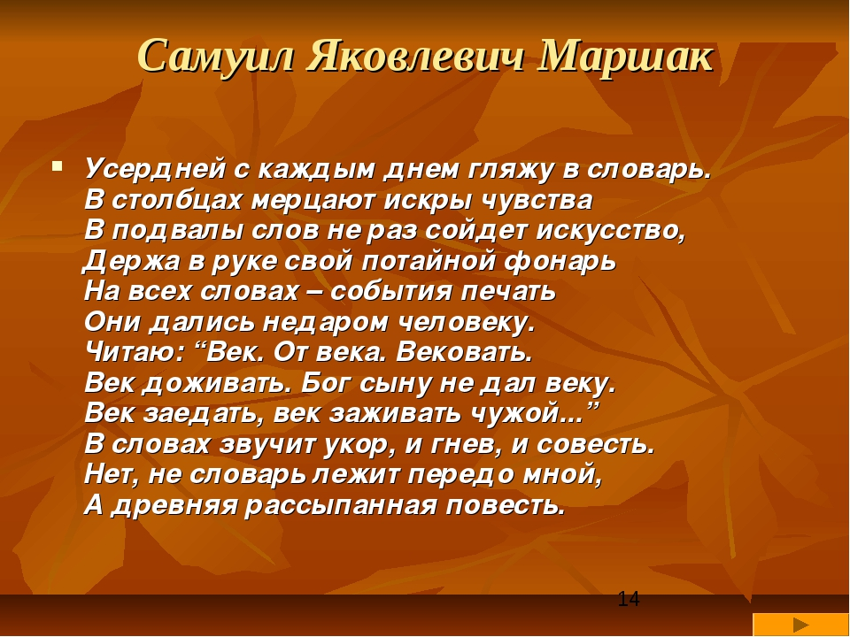 Стихи про словарь