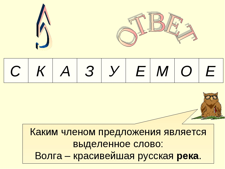 Каким членом предложения является выделенное слово: Волга – красивейшая русск...