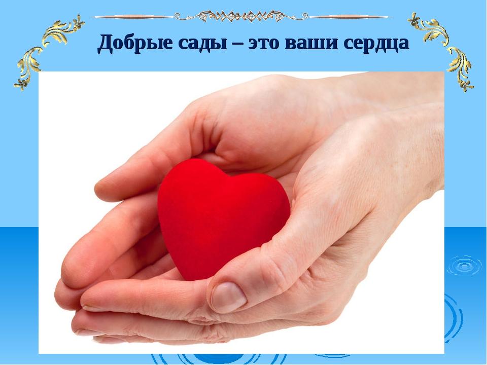Добрые сады – это ваши сердца