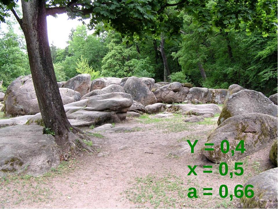 Y = 0,4 х = 0,5 а = 0,66