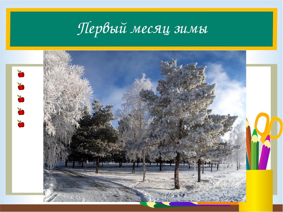 Первый месяц зимы