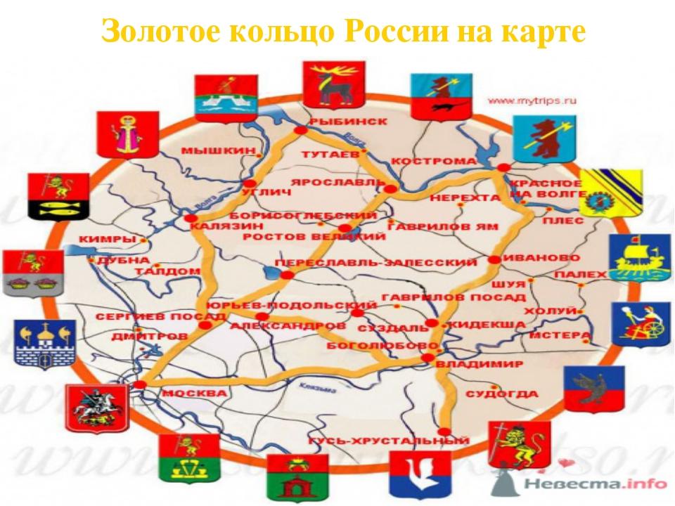 карта золотое кольцо россии малое нас