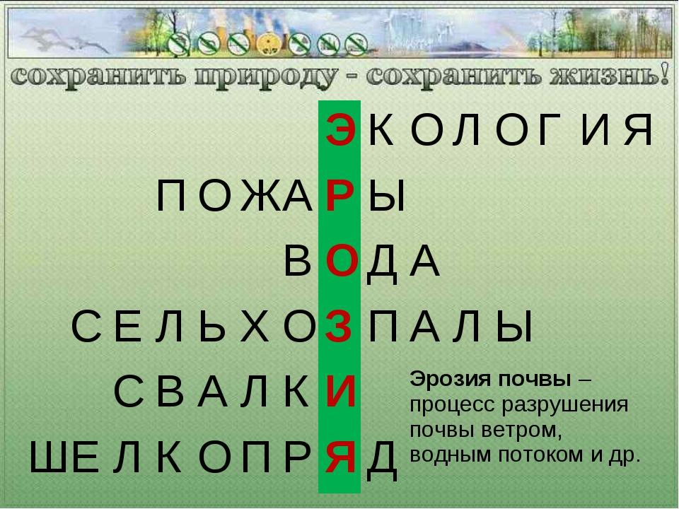 ЭКОЛОГИЯ ПОЖАРЫ ВОДА СЕЛЬХОЗ...