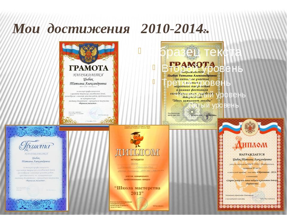 Мои достижения 2010-2014г.