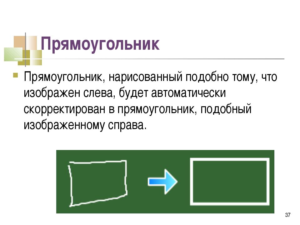 Прямоугольник Прямоугольник, нарисованный подобно тому, что изображен слева,...