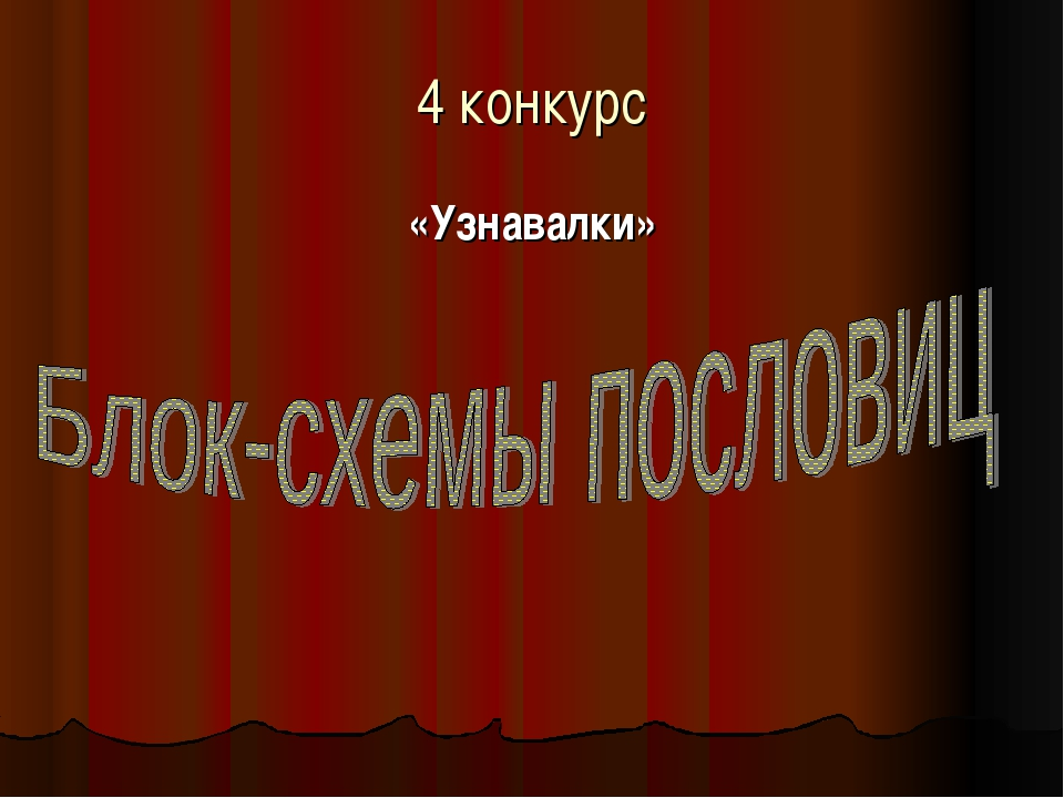 4 конкурс «Узнавалки»