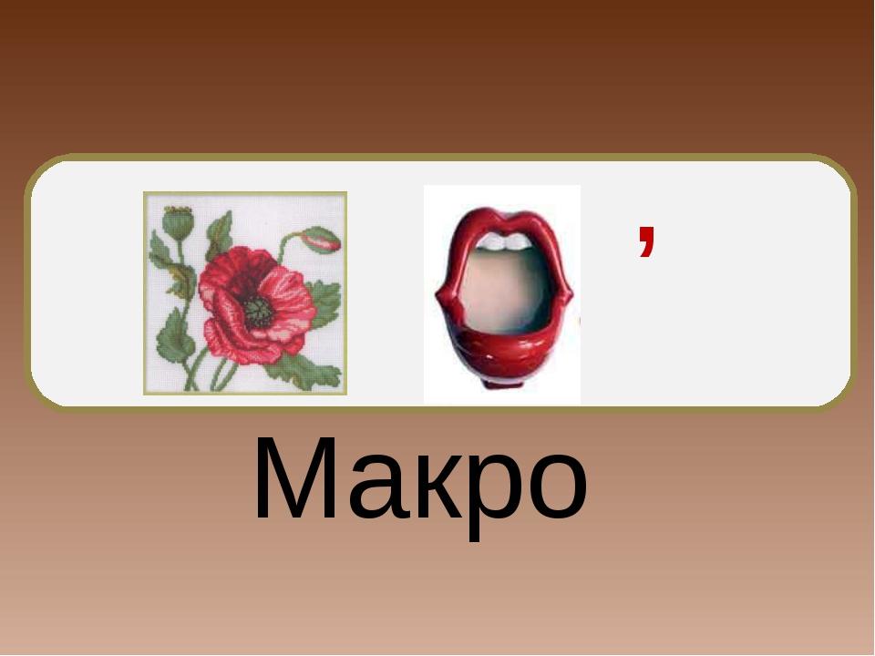 , Макро