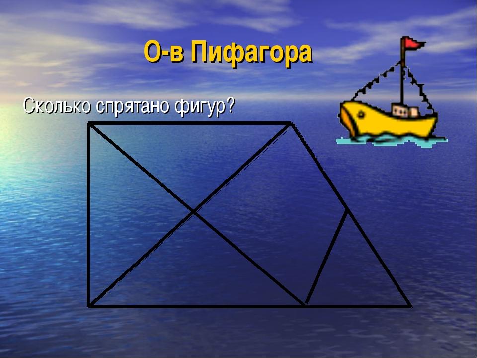 О-в Пифагора Сколько спрятано фигур?