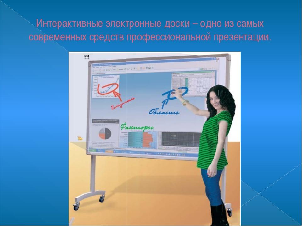 Интерактивные электронные доски – одно из самых современных средств профессио...