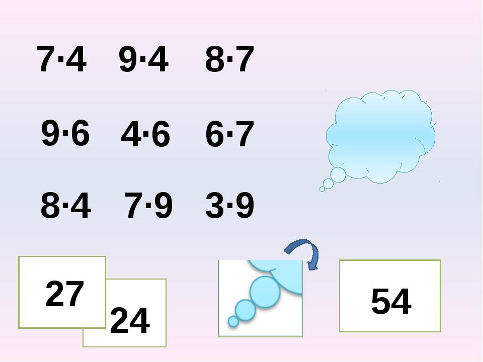 7·4 9·4 8·7 9·6 4·6 6·7 8·4 7·9 3·9 32 27 54 24