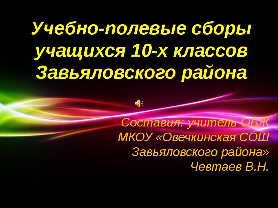 Powerpoint Templates Учебно-полевые сборы учащихся 10-х классов Завьяловского...