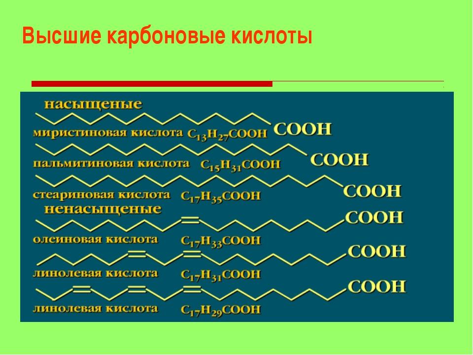 Высшие карбоновые кислоты