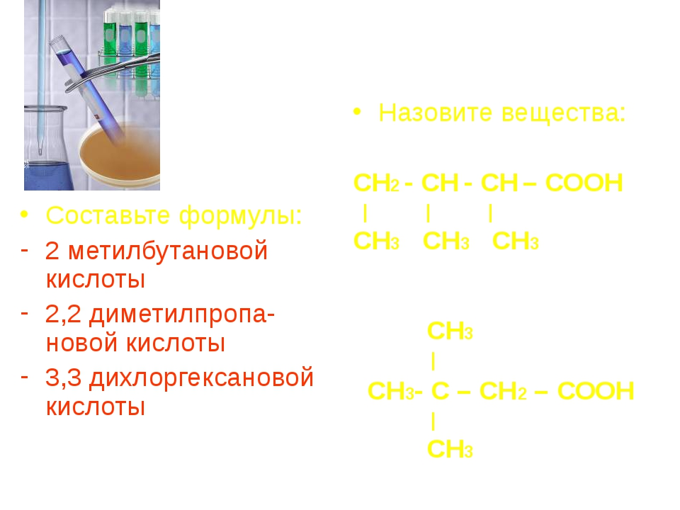 Составьте формулы: 2 метилбутановой кислоты 2,2 диметилпропа-новой кислоты 3...