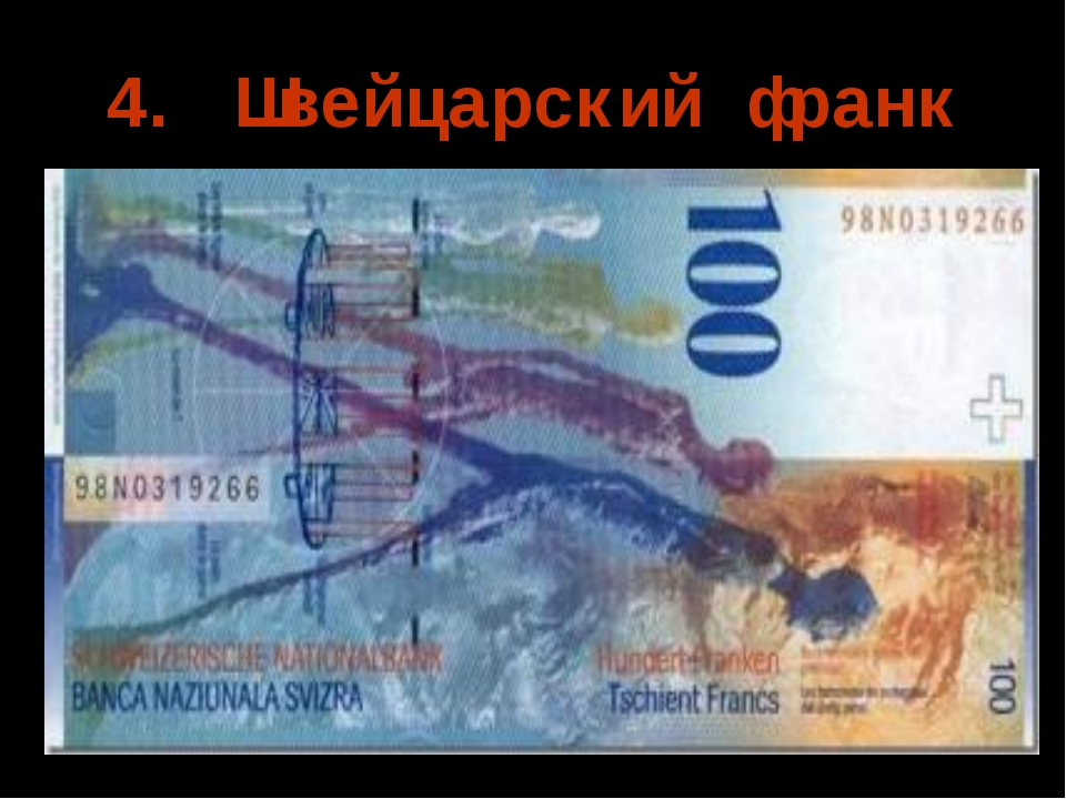 4. Швейцарский франк