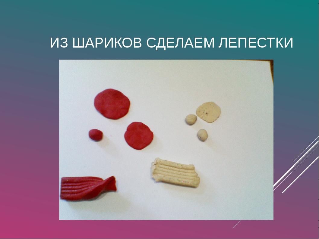ИЗ ШАРИКОВ СДЕЛАЕМ ЛЕПЕСТКИ