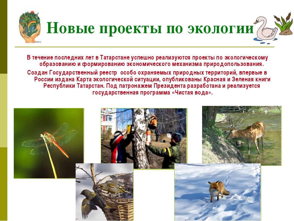 В течение последних лет в Татарстане успешно реализуются проекты по экологич...