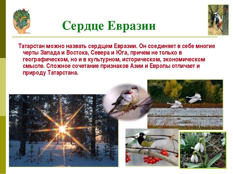 Татарстан можно назвать сердцем Евразии. Он соединяет в себе многие черты За...