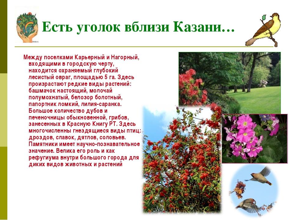 Между поселками Карьерный и Нагорный, входящими в городскую черту, находится...
