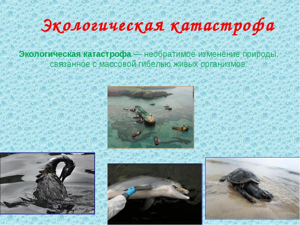 Экологическая катастрофа Экологическая катастрофа— необратимое изменение при...