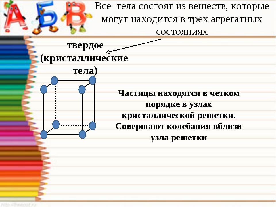 Все тела состоят из веществ, которые могут находится в трех агрегатных состоя...
