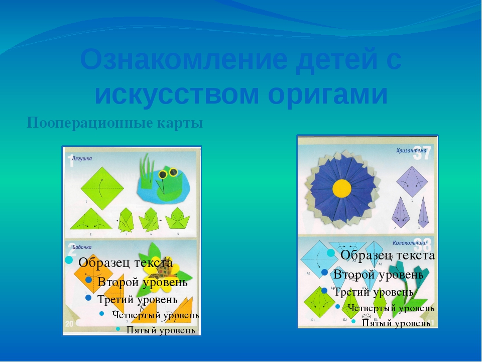 Ознакомление детей с искусством оригами Пооперационные карты