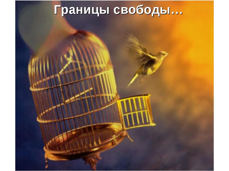 Границы свободы…