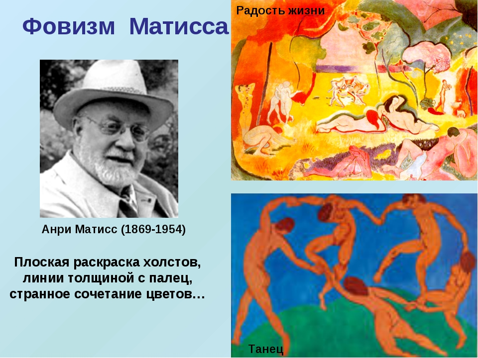 Радость жизни Танец Анри Матисс (1869-1954) Фовизм Матисса Плоская раскраска...