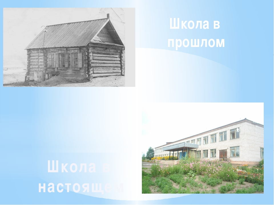 Школа в прошлом Школа в настоящем