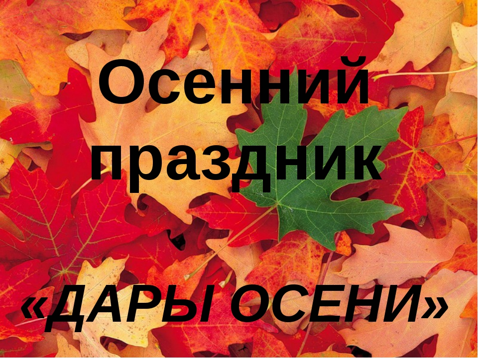 ДАРЫ ОСЕНИ Осенний праздник «ДАРЫ ОСЕНИ»