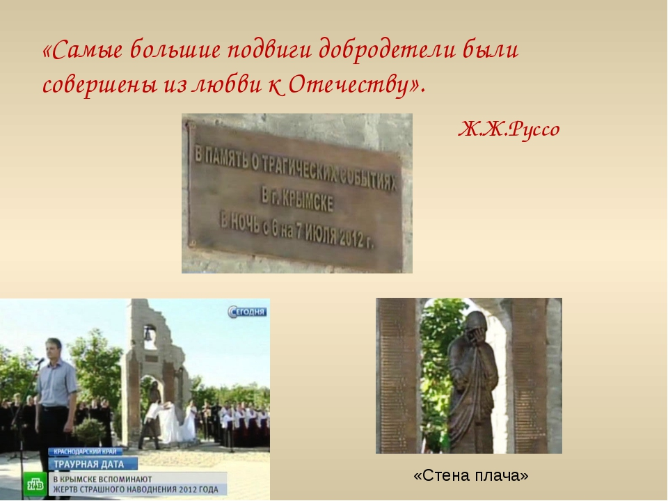 «Самые большие подвиги добродетели были совершены из любви к Отечеству». Ж.Ж....