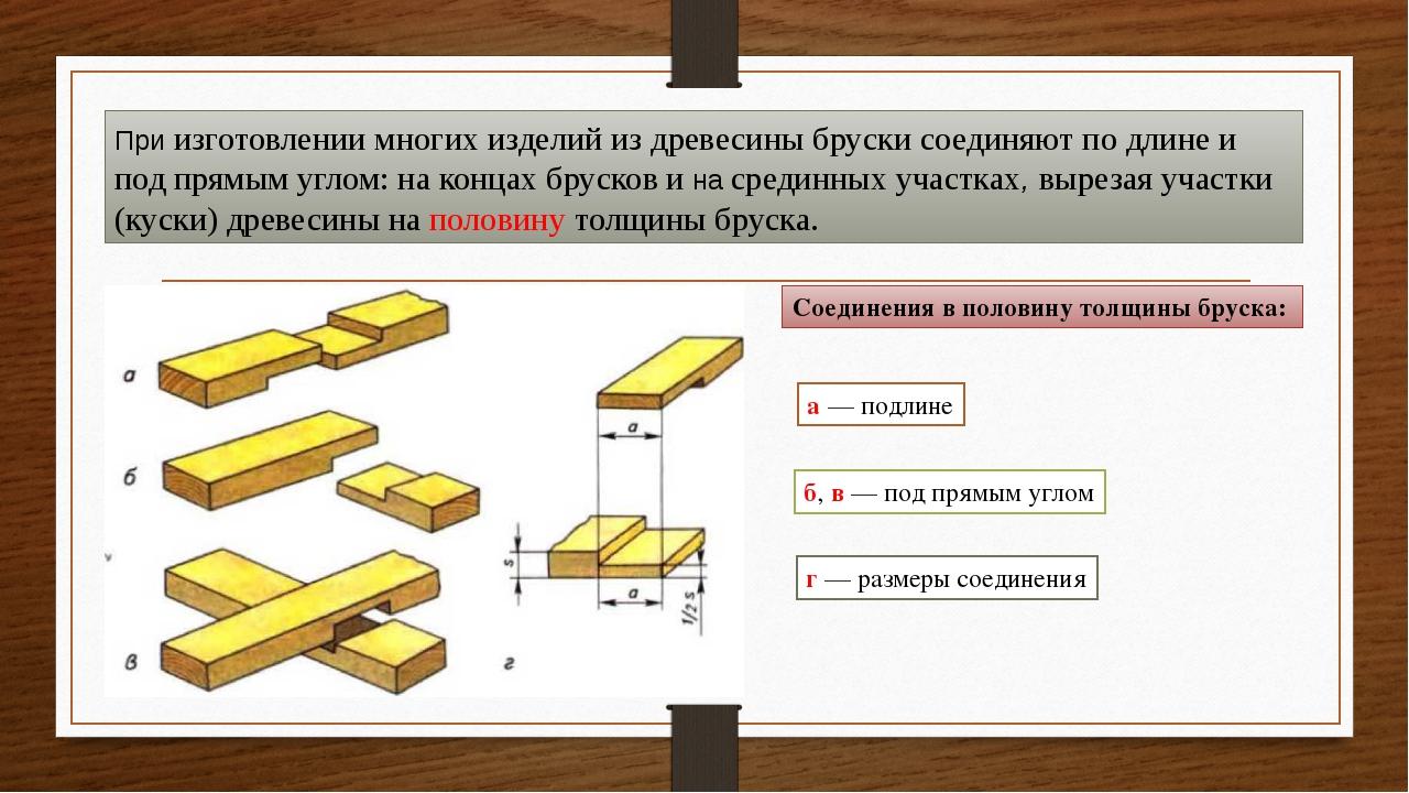 При изготовлении многих изделий из древесины бруски соединяют по длине и под...