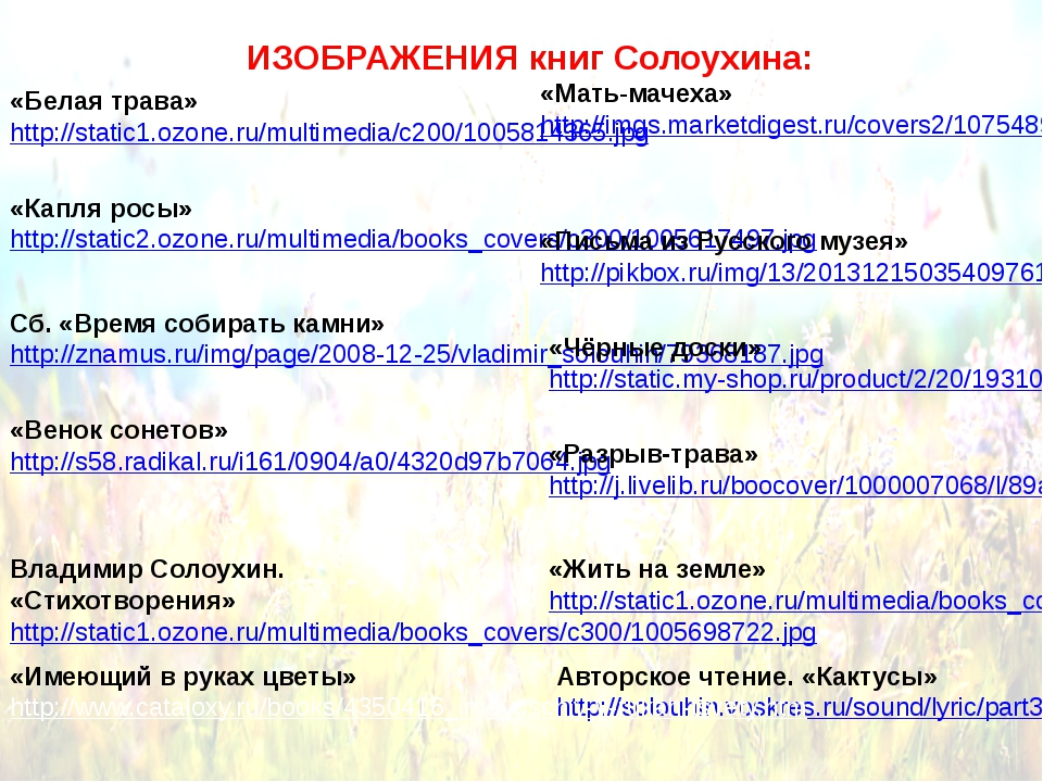 Авторское чтение. «Кактусы» http://solouhin.voskres.ru/sound/lyric/part3.mp3...