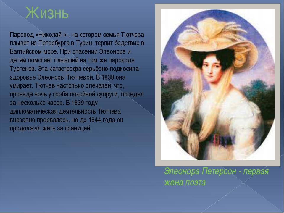 Жизнь Пароход «Николай I», на котором семья Тютчева плывёт из Петербурга в Ту...