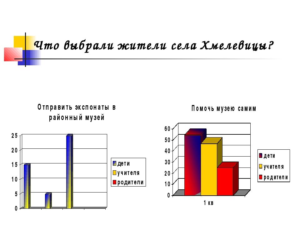 Что выбрали жители села Хмелевицы?