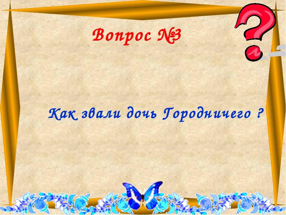 Вопрос №3 Как звали дочь Городничего ?