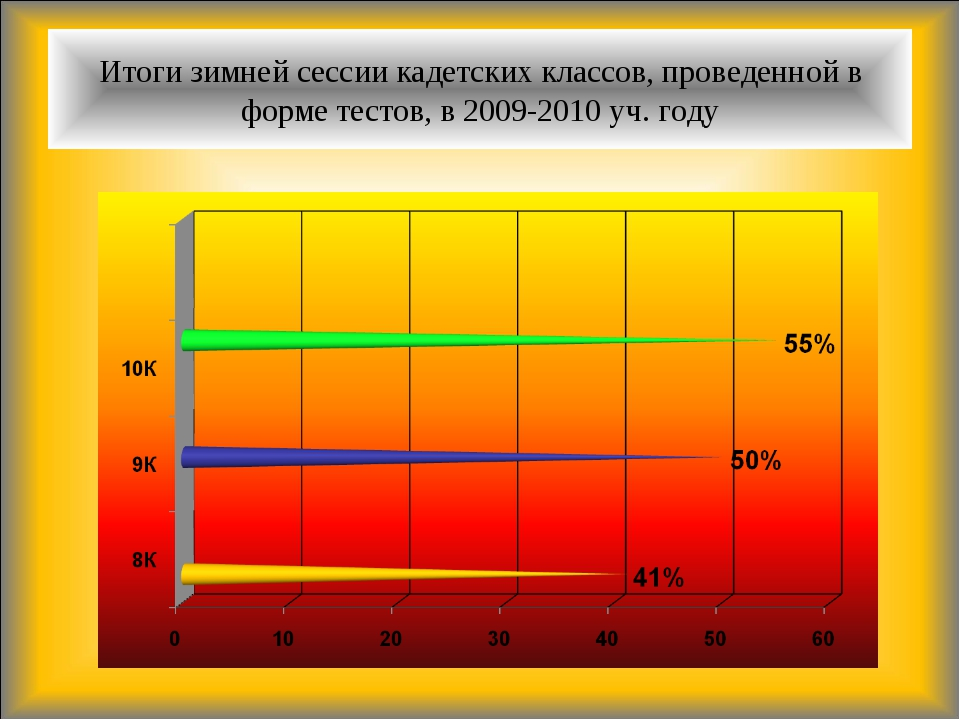 Итоги зимней сессии кадетских классов, проведенной в форме тестов, в 2009-201...