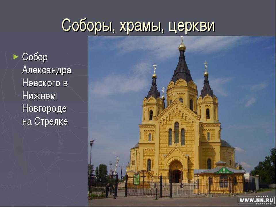Соборы, храмы, церкви Собор Александра Невского в Нижнем Новгороде на Стрелке