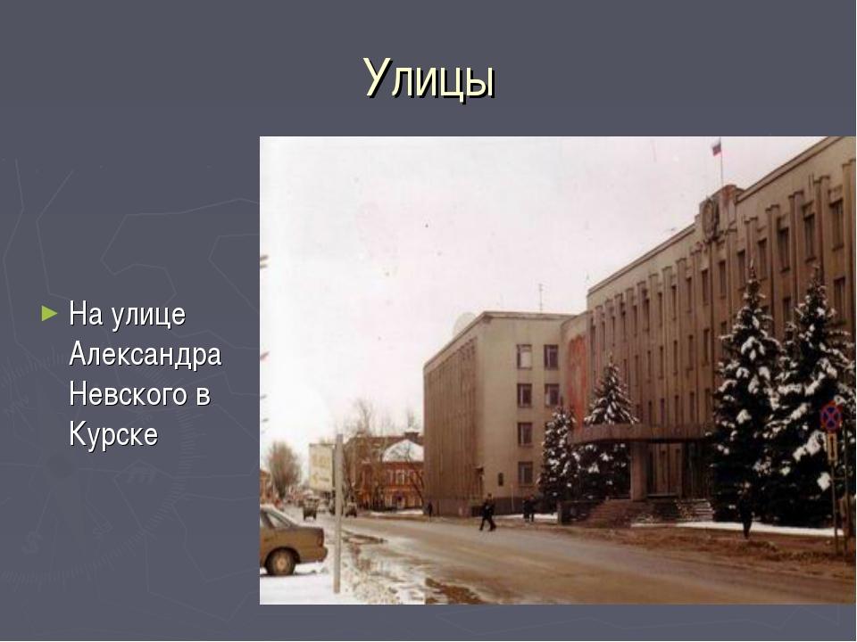 Улицы На улице Александра Невского в Курске