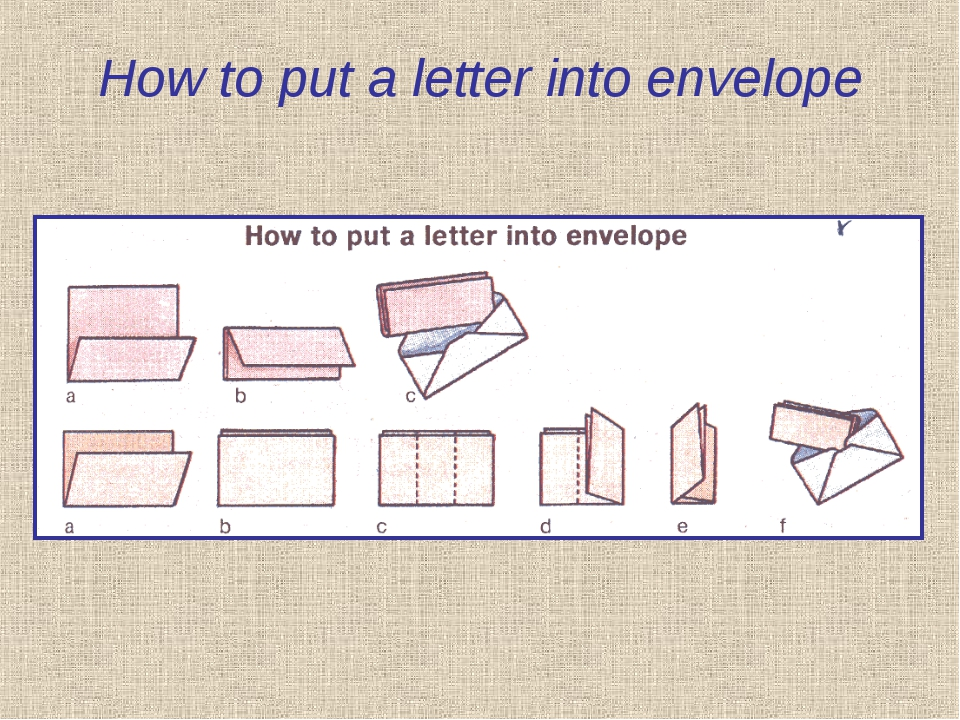 How to put a letter into envelope