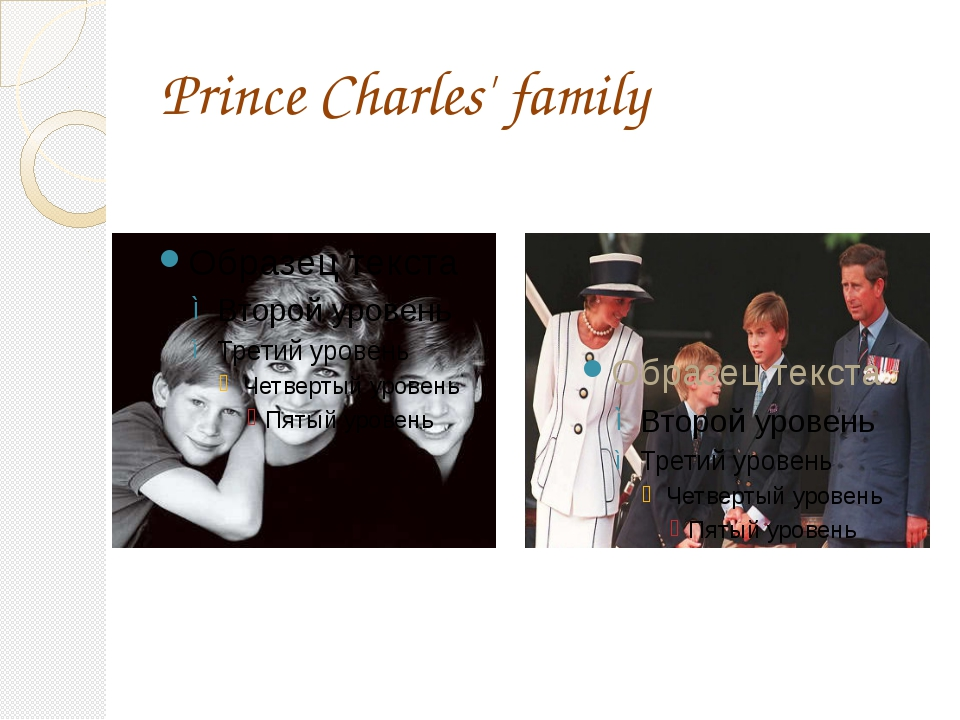 Prince Charles' family