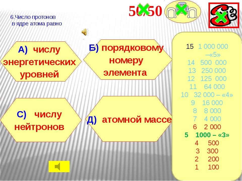 7.Равное число электронов на внешнем энергетическом уровне у атомов элементо...