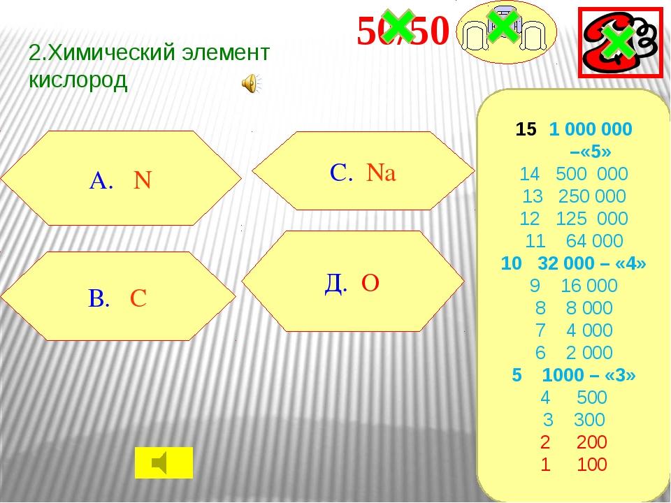 3.Единица измерения массы В. моль А. литр С. кг Д. молекула 1 000 000 –«5» 14...
