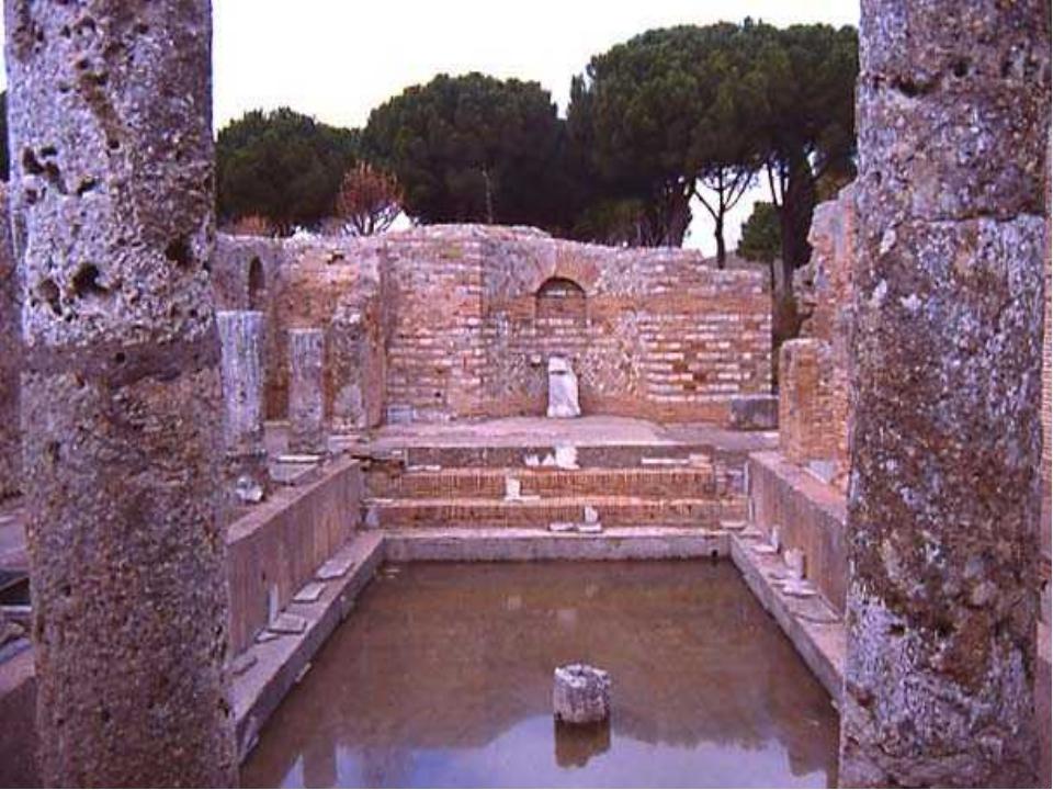 основное здание обычно имело симметричный план по главной оси фригидария, теп...