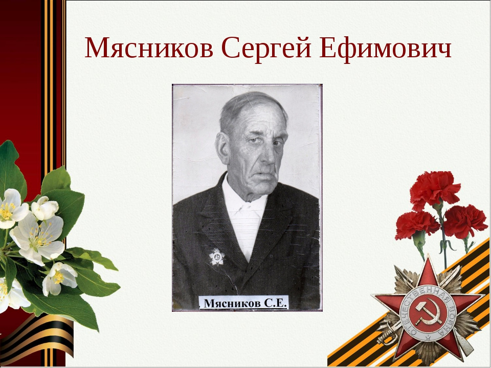 Мясников Сергей Ефимович