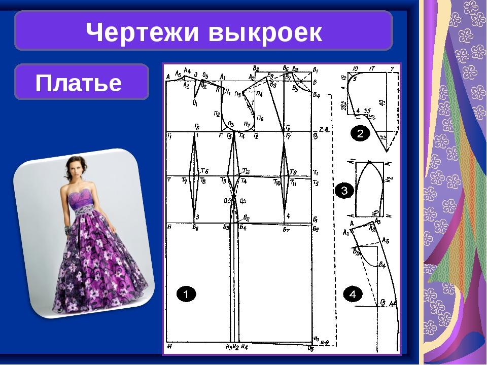 Чертежи выкроек Платье