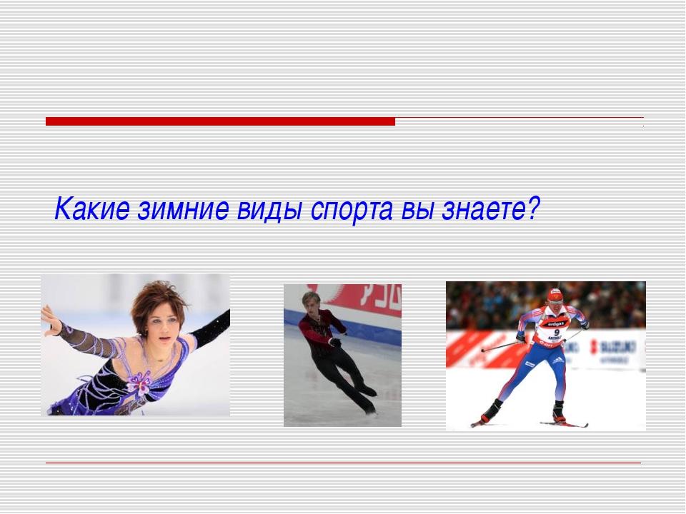 Какие зимние виды спорта вы знаете?